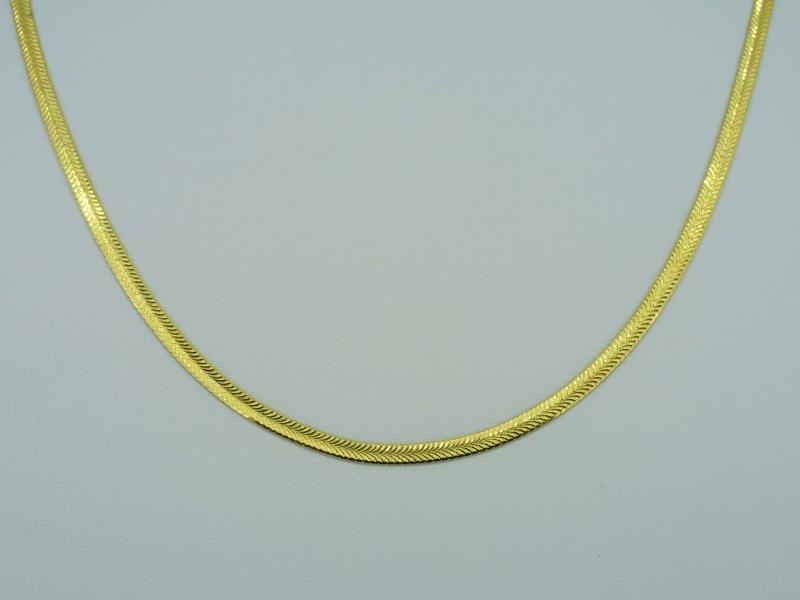 Elegante Gelbgoldkette