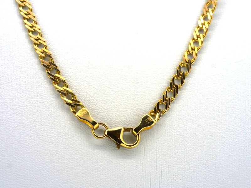 Glanzvolle Gelbgoldkette