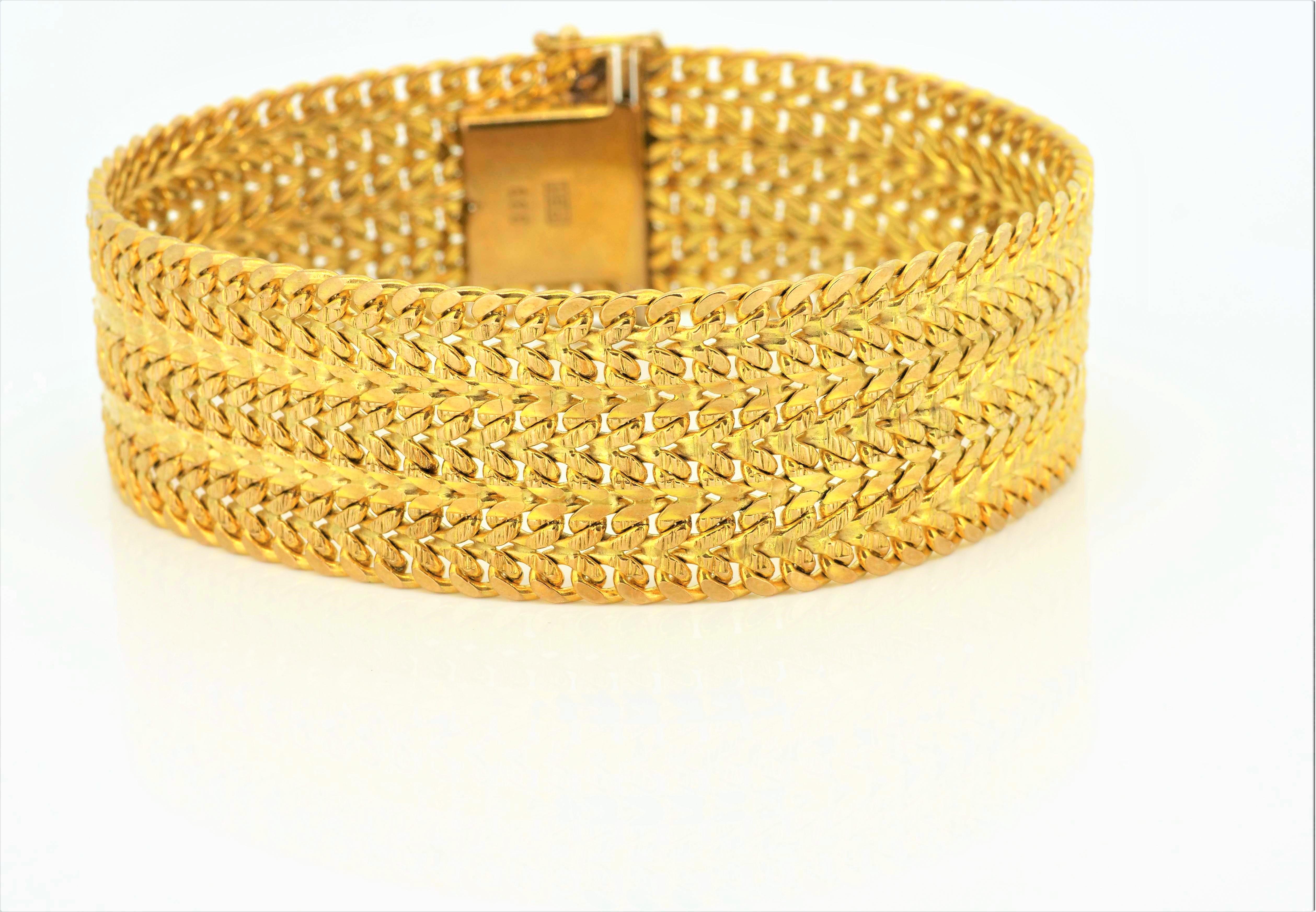 Klassisches Gelbgoldarmband