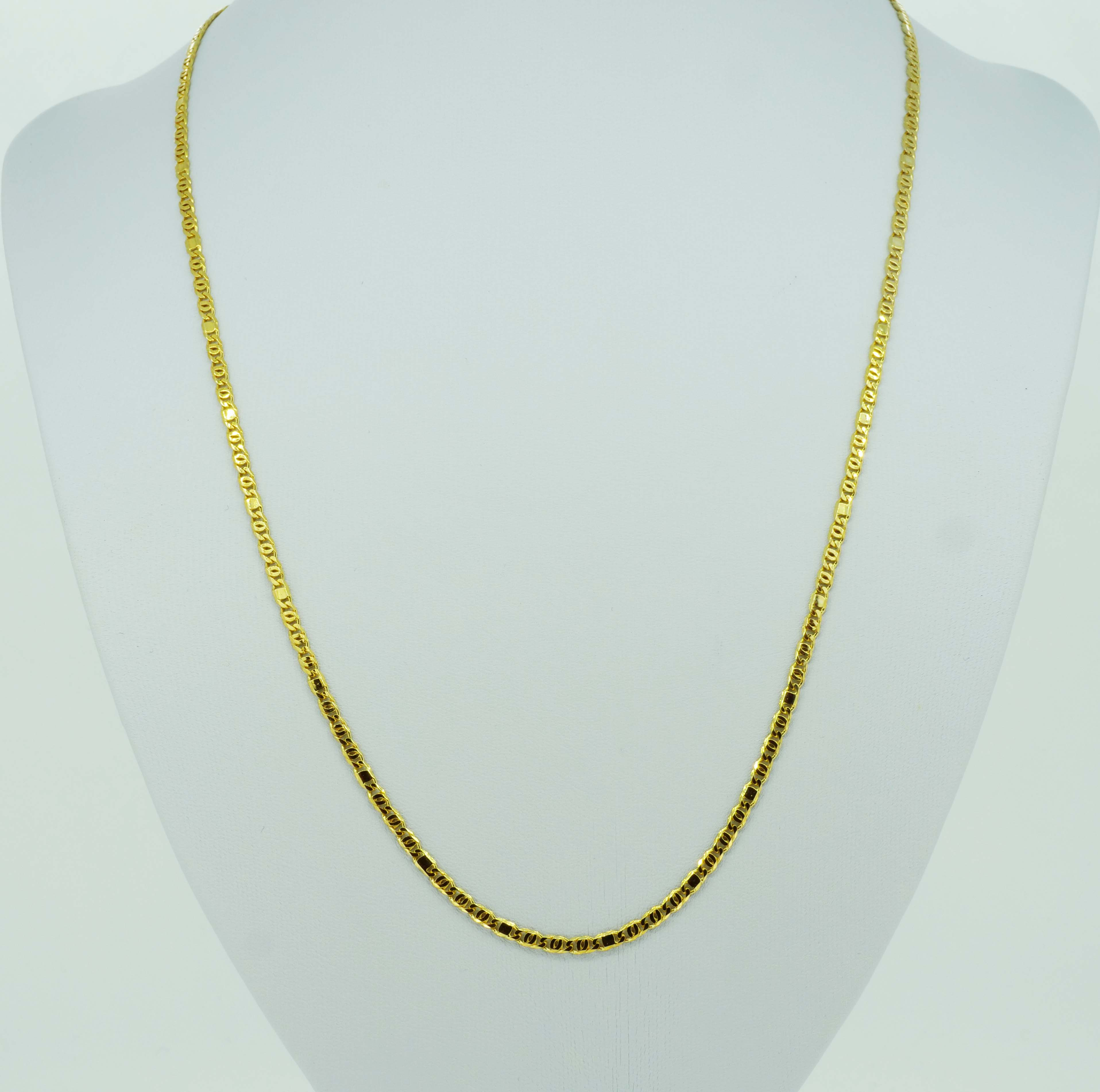Elegante lange Gelbgoldkette
