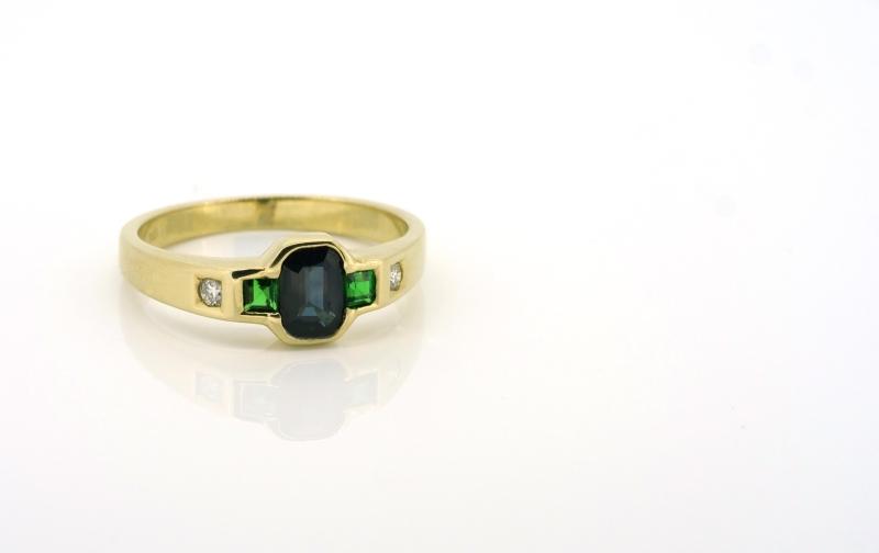 Anmutiger Gelbgold ring