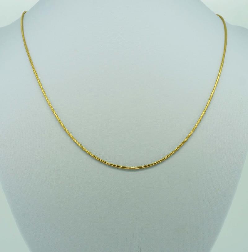 Dekorative Gelbgoldschlangenkette